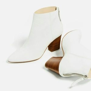 Zara leather ankle boots (6141)