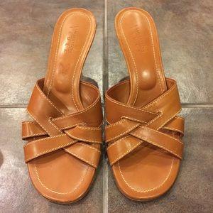 LAMBERTSON TRUEX Heeled Leather Sandals 