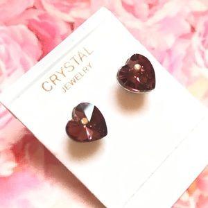 ♥️BOGO Crystal heart earrings
