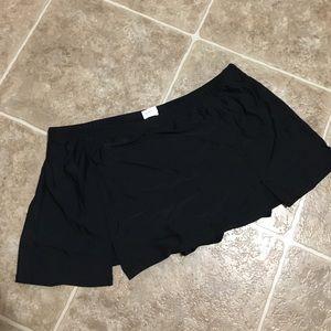 Black Skirt Swim Suit Bottoms