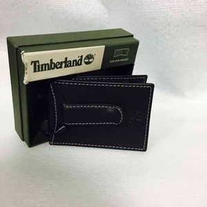 Timberland Other - Timberland Mens Leather Flip Clip Black Wallet