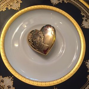 Vintage Gold-tone Variety Club Heart Brooch