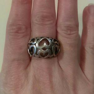 .925 multi heart ring