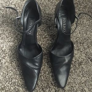 Leather black shoes Rylko