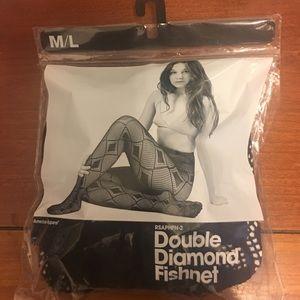 American Apparel Accessories - American Apparel Diamond Fishnet Stockings