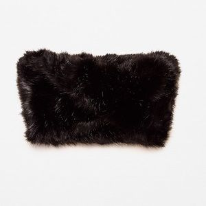 Zara black faux fur snood (neck warmer)