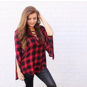 Tops - Flannel shirt new with tags!