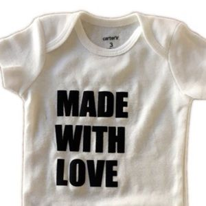 Other - Made with love onesie