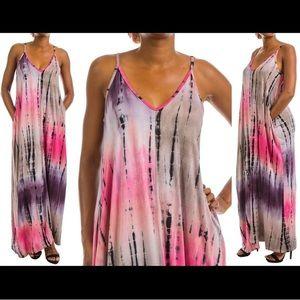 Leoninus Dresses & Skirts - 💕💜Spaghetti Strap Tie Dye Maxi