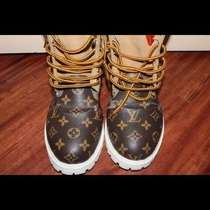 98904dac40 Timberland/Louis Vuitton Shoes   Louis Vuitton Timberlands   Poshmark