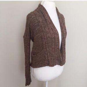 Free People Chunky Knit Crochet Sweater w Pockets!