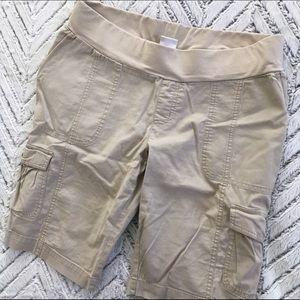 Motherhood khaki maternity shorts