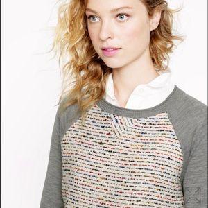 J. Crew Sweaters - ❌SOLD❌ JCrew Tweed Front Merino Baseball Sweater