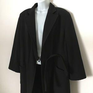 Armani Collezioni Jackets & Blazers - Vintage Armani Black Coat size 6