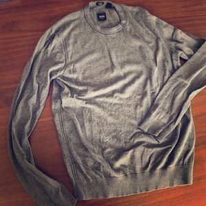 Slim fit cotton/silk sweater