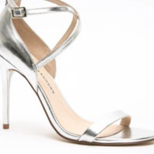 Chinese Laundry Shoes - Silver scrappy heels