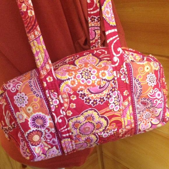 Vera Bradley Handbags - Vera Bradley pink and orange purse raspberry fizz