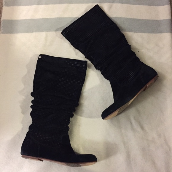 "UGG Shoes - UGG ""Abilene"" BLACK SUEDE BOOTS"