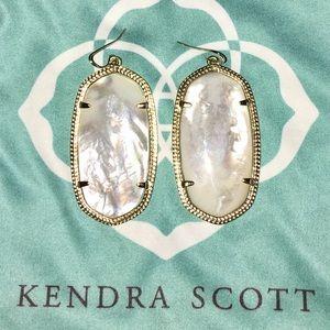 Kendra Scott Danielle Ivory Pearl & Gold Earrings