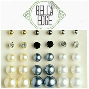 Bella Edge Jewelry - Assorted pearl and post stud earrings