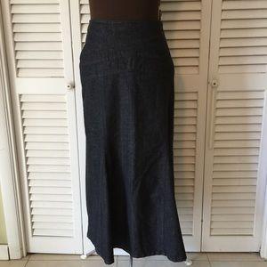 Cato Dresses & Skirts - Cato's  Denim Maxie Flare tail Skirt Size 8