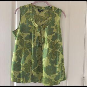 Talbot's -Sleeveless green blouse