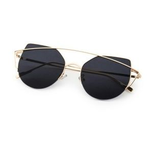 Just In!! Gold Frame Black Cat Eye Sunnies