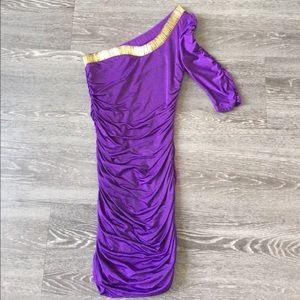 ASOS purple one shoulder dress