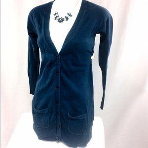 Zara Blue Cardigan Sweater (sz S)