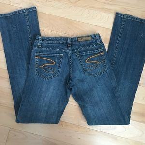 Seven7 Denim - Like new distressed designer boot cut jeans