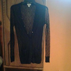 Rodarte Tops - Black lace button up