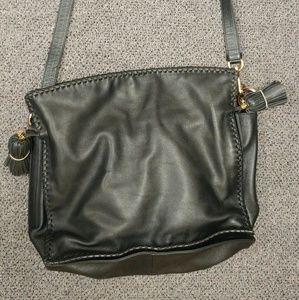 loewe Handbags - Loewe black leather crossbody purse