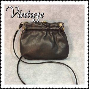 💥 SALE 👜 Vintage Black Leather Purse