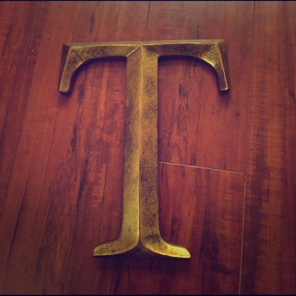 Other | Golden Wall Decor Letter T | Poshmark