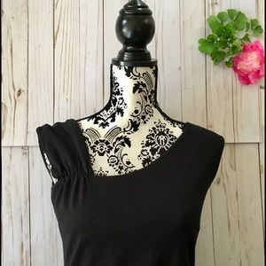 Dress Barn Tops - Asymmetrical neckline top