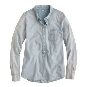 jcrew faded chambray popover size L