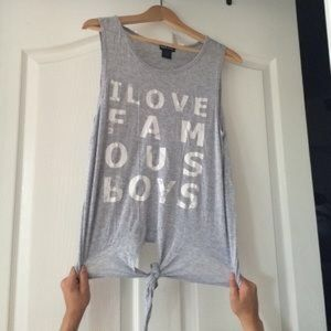 Wet Seal Tops - I love famous boys Tank
