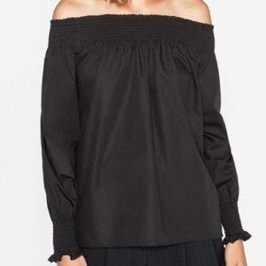 Zara Off Shoulder Long Sleeve Top Small