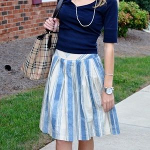 Anthropologie Pitter Patter Skirt striped size 8