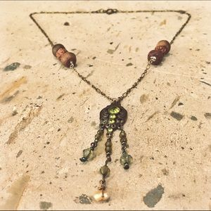Jewelry - Beautiful Handmade Brass & Chandelier Necklace