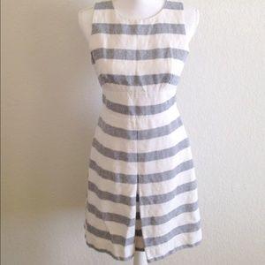 J. Crew Dresses & Skirts - Sale🎉 Jcrew stripe basket weave dress Size 4