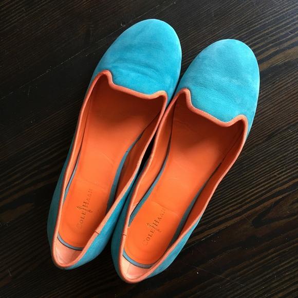 b53580c2140 Cole Haan Shoes - Cole Haan Nike Air Morgan Teal Smoking Shoe Loafer