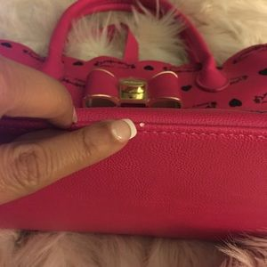Bags - Betsey Johnson hot pink tote