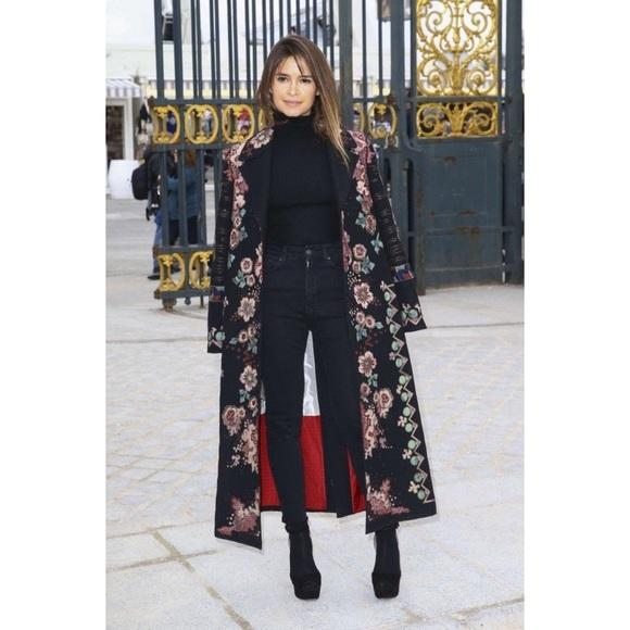 Anthropologie Jackets & Blazers - BIYA - Hand Embroidered Vintage Silk Coat
