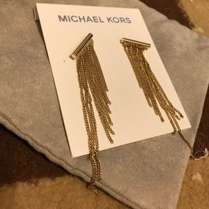 "Michael kits ""gold"" fringe earrings. BNWT."