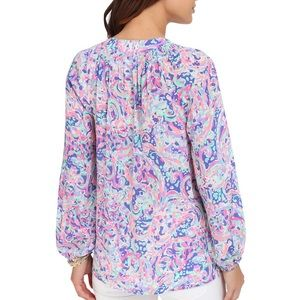 Lilly Pulitzer Tops - Lilly Pulitzer Elsa Top in 'La Playa'