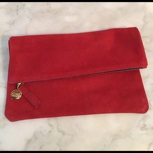 Clare Vivier Handbags - Clare Vivier Suede Foldover Clutch