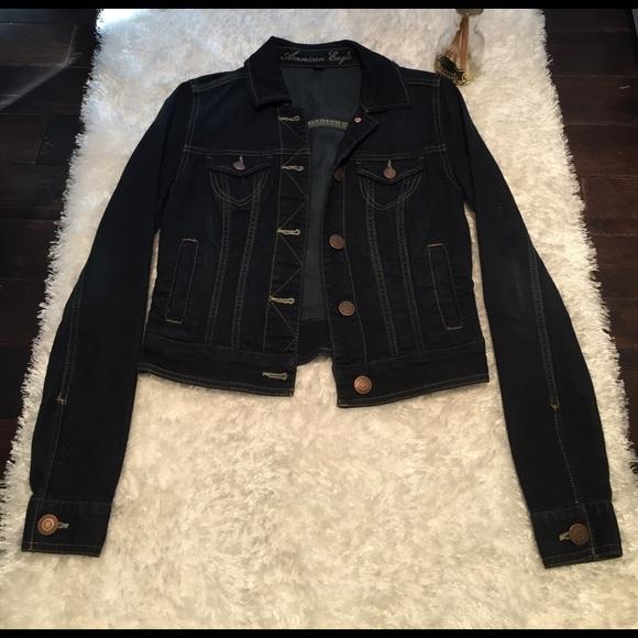 686c647c21 American Eagle Outfitters Jackets   Blazers - American Eagle Dark Blue  Denim Jacket XS