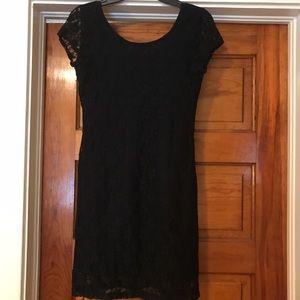 Dresses & Skirts - Price drop! Medium black fitted lace mini dress