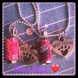 Jewelry - Dr. Pepper & Coke BestFriends necklaces
